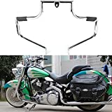 GZYF Motorcycle Engine Guard Highway Crash Bar Protection Fits 2000-2017 Harley Davidson FLSTC Softail Heritage Classic, Silver