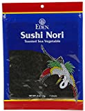 Eden Organic Sushi Nori, Toasted Cultivated, 7 Count, 0.6 oz packages