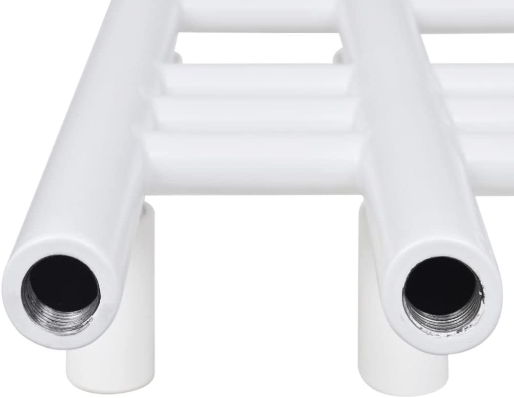vidaXL S/èche-serviettes Porte-serviette eau chaude /à rails incurv/és Gris 480 x 480 mm