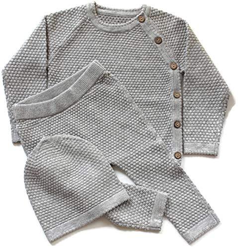 Unisex Gray Baby Layette Set (6-9 Months)