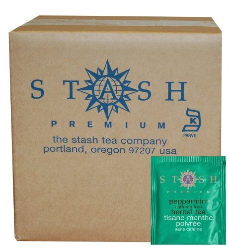 Stash Tea Peppermint Herbal Tea, 100 Count Box of Tea Bags in Foil