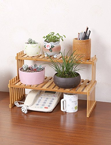 HOMEE Ceiling Chandelier-Fashion Bamboo Desktop Puzzle You Flower Racks Simple Shelves Office Storage Pots,3W Led by HOMEE