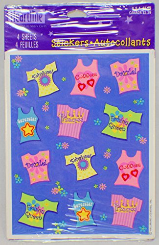Hallmark Cards Heartline Vintage T-Shirt Tank Top Sticker Pack 4 sheets new
