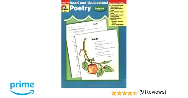 Amazon.com: Read and Understand Poetry, Grades 5-6+ (9781557999948 ...