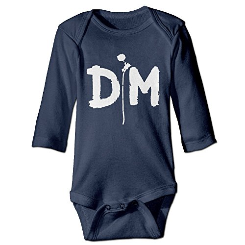 HYRONE Alternative Rock Band DM Logo Baby Bodysuit Long Sleeve Romper Suits Size 18 Months ()