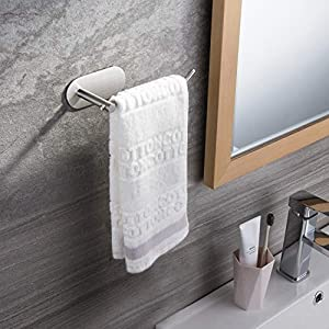 SUNTECH Hand Towel Holder/ Towel Ring – Self Adhesive Towel Bar for Kitchen and Bathroom No Drilling