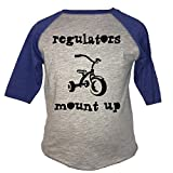 Think Apparel, (Regulators Mount up) Boys & Girls Unisex Fine Jersey Top (2T, Royal Blue BB Tee)