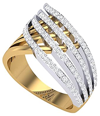 Buy Clara Silvo 18K Gold Plated Eva Sterling Silver Ring With