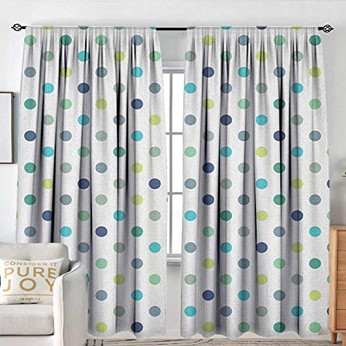 - Polkadot Indoor/Outdoor Single Panel Print Window Curtain Polka Dots Retro Classy Vintage Fabric Pattern Design Style Great for Living Rooms & Bedrooms W 84