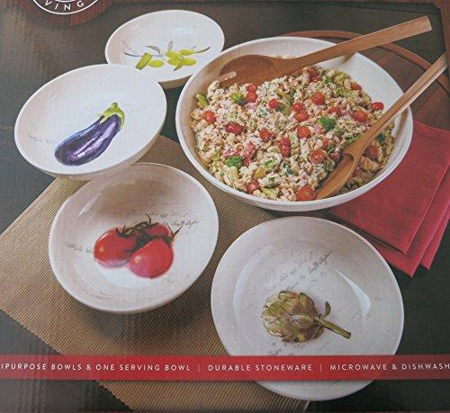 SCM 5-Piece Pasta Serving Bowl Set