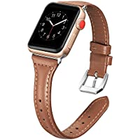 Secbolt Leather Bands Compatible Apple Watch Band 38mm...