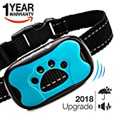 Dog Bark Collar Upgrade 2018 - Humane Anti Bark Training Collar - Vibration No Shock Collar - Stop Barking Collar for Small Medium Large Dogs - Best No Bark Control Collar - Safe Pet Waterproof Device