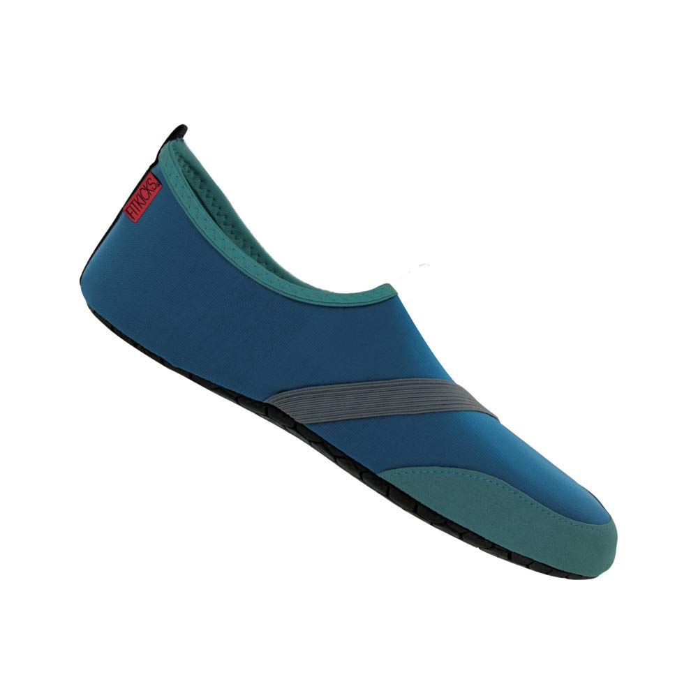 FitKicks Original Men's Edition Foldable Active Lifestyle Minimalist Footwear Barefoot Yoga Water Shoes Navy