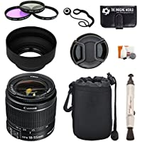 Canon EF-S 18-55mm f/3.5-5.6 IS II Lens + Pouch + Filter Kit + Lens Cleaner + Digital Camera Lens Accessories Bundle