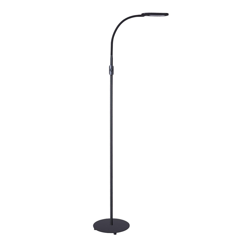 Amazon floor lamps torchieres aukey led floor lamp 65w 60w equivalent 7 brightness levels eye care mozeypictures Choice Image