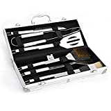 Zehui Grilling BBQ Utensils with Storage Case Set of 6 PCS Stainless Steel Barbecue Tool Set