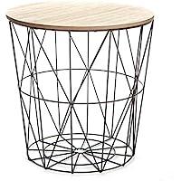 Paris Prix - Table D'appoint Design Kumi 41cm Noir