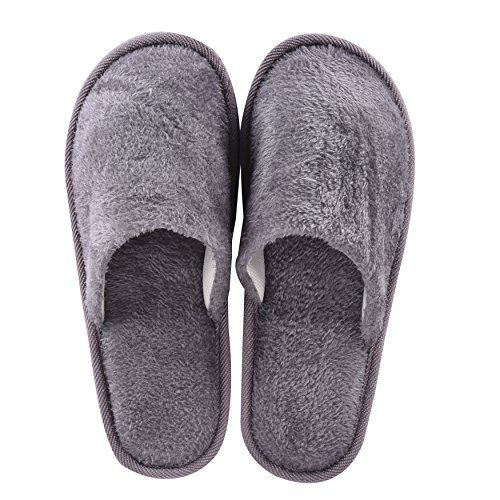 Cityelf House Spa Slippers Closed Toe Hotel Travel Home Guest Slip On Grey 6SfZQtb