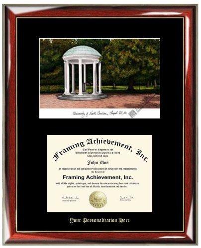 Campus Images NC997LR University of North Carolina, Chapel Hill Legacy Alumnus Framed Lithographic Print