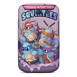 Fashion Tpu Case For Galaxy S3- Teenage Mutant Ninja Squirtles Defender Case Cover