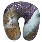 Nicokee Multifunctional Neck Pillow Cat Glass Window U-Shaped Soft Pillows Portable for Sleeping Travel