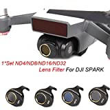 Inverlee ND4/ND8/ND16/ND32 for DJI SPARK Drone Gimbal Camera HD Lens Filter 4 PCS a Set (Black)