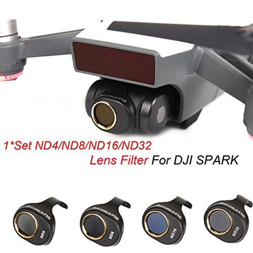 Inverlee ND4/ND8/ND16/ND32 for DJI SPARK Drone Gimbal Camera HD Lens Filter 4 PCS a Set (Black) by Inverlee