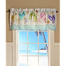The Lakeside Collection Flip Flop Window Valance