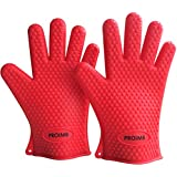 Proimb Silicone Gloves for Cooking Heat Resistant (Red, Free Size)