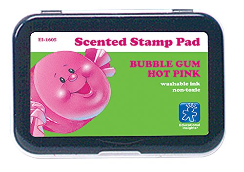 Educational Insights 1605 Stamp Pad Hot Pink/Bubble Gum Scent