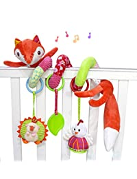 SKK Baby Fox Plush Spiral Activity Toy BOBEBE Online Baby Store From New York to Miami and Los Angeles
