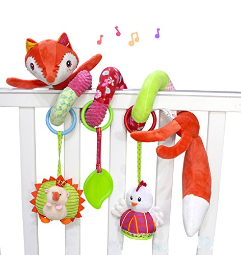 SKK Baby Fox Plush Spiral Activity Toy (Hanging Paper Mobile)