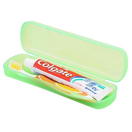 ounona cepillo de dientes organizador titular caso bolsillo de plástico pasta de dientes proteger caja contenedor