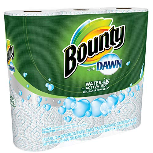 Bounty with Dawn Water Activated Detergent Towels 6 Rolls 39 2-Ply Sheets Per Roll