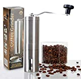 BRBHOM Manual Coffee Grinder for French Press Coffee Maker Stainless Steel Hand Coffee Bean Grinder