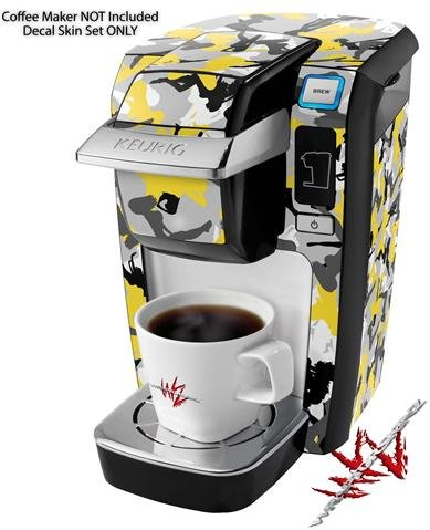 Sexy Girl Silhouette Camo Yellow - Decal Style Vinyl Skin fits Keurig K10 / K15 Mini Plus Coffee Makers (KEURIG NOT INCLUDED)