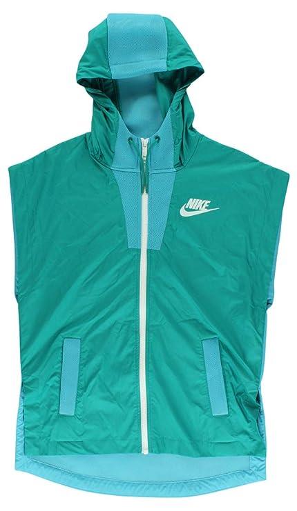 113992843 Amazon.com: NIKE Womens Vest Hooded Athletic Jacket Blue S: Sports ...