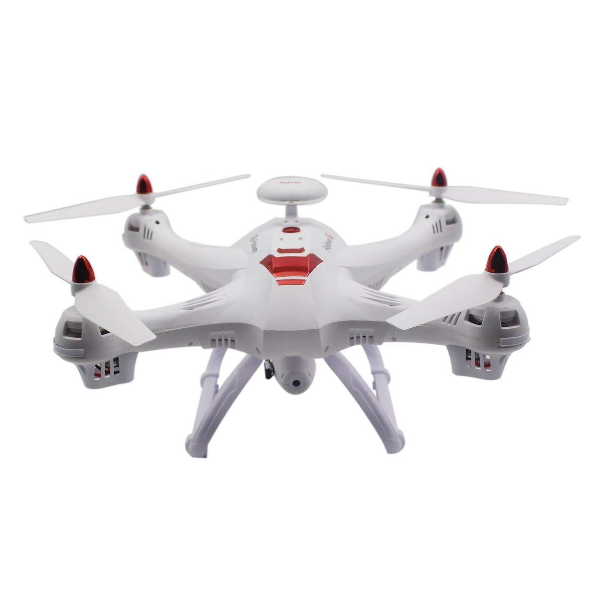 Gugutogo Drohne Mit Kamera Drohne X183 Professionelle Höhe Halten Dual GPS Quadrocopter mit 720P Kamera (weiß)