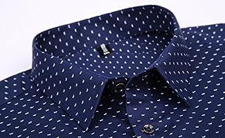 XTAPAN Mens Stripe Long Sleeve Casual Slim Fit Button Down Dress Shirt