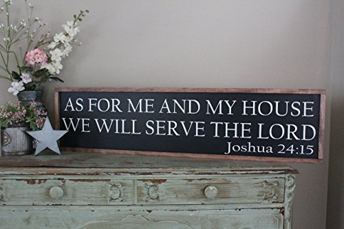 As For Me And My House, We Will Serve The Lord Farmhouse Wall Sign by CraftyMamaGifts