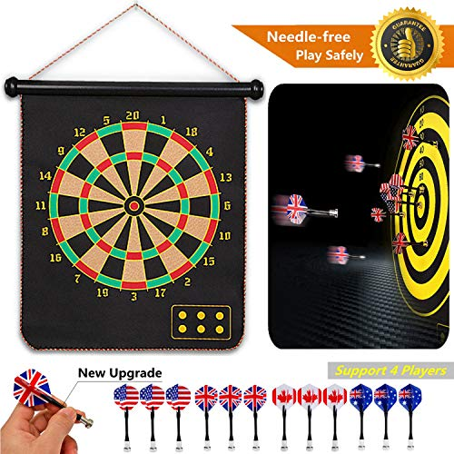 Why Choose Hedonism Magnetic Dart Board Set Safety for Kids Adults Indoor Outdoor Double Sided Dartb...