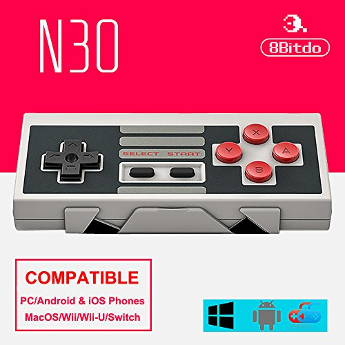 Nes Fighting Games - 8Bitdo N30 Bluetooth Wireless Controller Classic NES Joystick Gamepad For Android/ iOS/ Windows/Mac OS/Switch (Black))