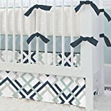 Carousel Designs Navy and Gray Geometric 2-Piece Crib Bedding Set