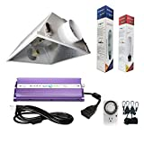 Hydroplanet™ 600W Horticulture Air Cooled Hood Set Grow Lights Reflector Digital Dimmable Ballast HPS MH System For Plant Grow Light Kit (600w)