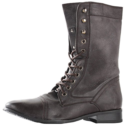 FLAT SIZE Style PIXIE LADIES VINTAGE ANKLE 3 Brown OUT WOMENS BUCKLE SHORT HEEL LOW BOOTS 31 CUT CHELSEA 8 A0Onwx1q