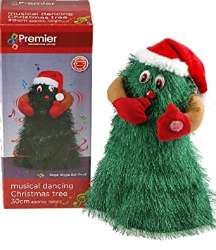 amazoncom premier singing and dancing musical novelty christmas tree decoration 1 pack home kitchen
