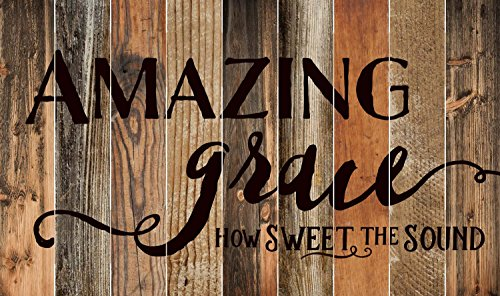 Amazing Grace Rustic Wood Design 28 x 47 Wood Large Barn Board Wall Art Sign Plaque by P Graham Dunn