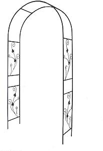 1. GO Steel Garden Arch, 7'5'' High x 3'7'' Wide, Garden Arbor for Various Climbing Plant, Outdoor Garden Lawn Backyard