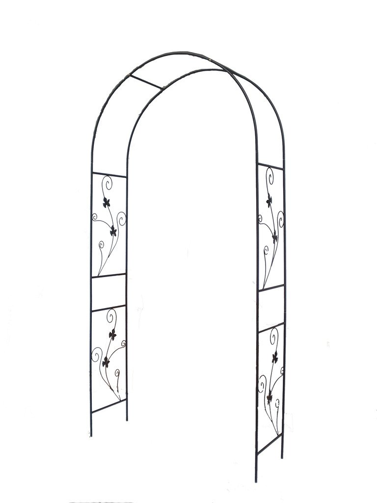 1.Go Steel Garden Arch, 7'5 High x 3'7 Wide, Garden Arbor for Various Climbing Plant, Outdoor Garden Lawn Backyard