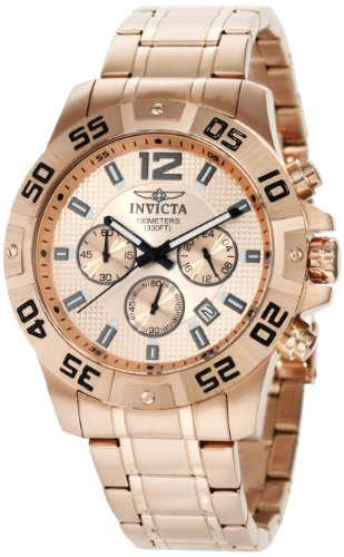 Invicta Men's 1504 Chronograph 18k Rose Gold Ion-Plated Stainless-Steel (Chronograph 18k Rose)
